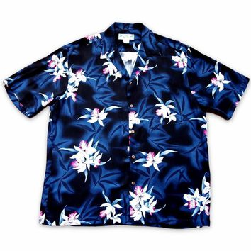 Poipu Grey Hawaiian Rayon Shirt
