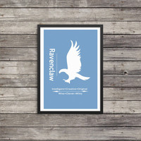 Ravenclaw Minimalist Poster | House poster | Harry Potter Poster |  Kids room decor | Harry Potter art