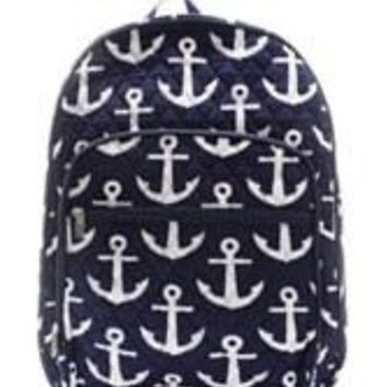 Anchor Quilted Backpack Large