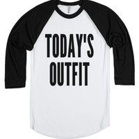 Today's Outfit Shirt IDC12021318-Unisex White/Black T-Shirt
