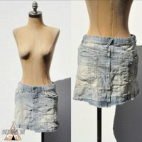 Ralph Lauren Patchwork Denim Mini Skirt