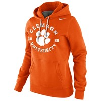 Nike Clemson Tigers Womens School Stamp Pullover Hoodie - Orange