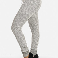 Cheap Trendy Heather Gray Cotton Joggers in Pants