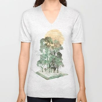 Jungle Book Unisex V-Neck by David Fleck