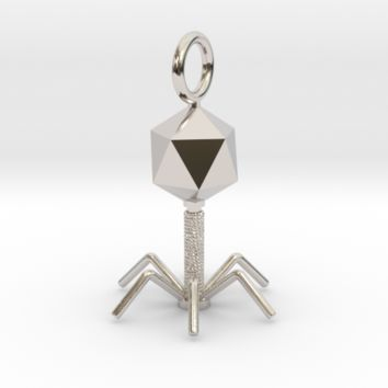 Science jewelry: Bacteriophage pendant (U9VZY2ZK9) by somersault18:24 on Shapeways