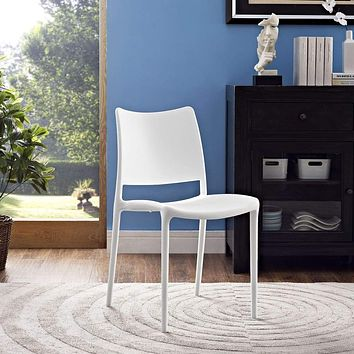 White Hipster Dining Side Chair