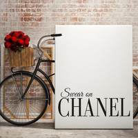 COCO CHANEL POSTER Art Inspirational Print Coco Chanel Poster Coco Chanel Quote Typography Quote Home Decor Motivational Poster Coco Chanel