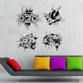 Wall Stickers Sound Recorder Music Party Night Club Vinyl Decal Unique Gift (ig1901)