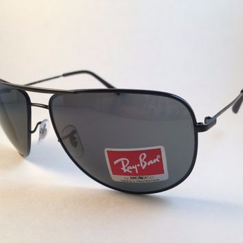 Cheap New Authentic Ray Ban Aviator Sunglasses RB 3468 E 002/71 Black w case w tags outlet