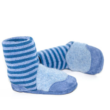 Baby Boy Shoes, Wool Toddler Slippers, Eco-Friendly Lambswool Slippers