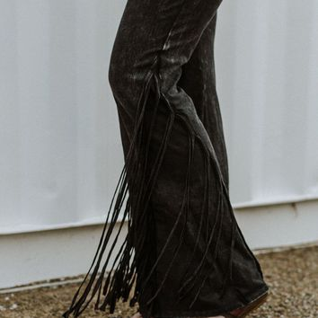 Cher Fringed Bottom Flare Pants