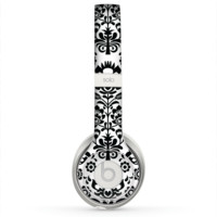 The Black Floral Delicate Pattern Skin for the Beats by Dre Solo 2 Headphones