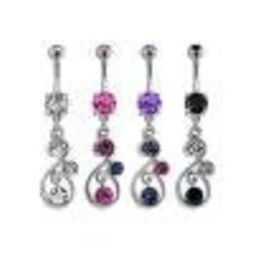Twist Dangle with Circle Gems-purple (Bnacz15tz), Each Sold Individually