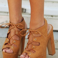 Groovy Baby Heels: Tan - Shoes - Hope's Boutique