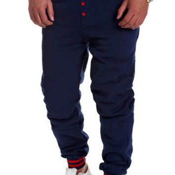 Beam Feet Button Lace-Up Sweatpants