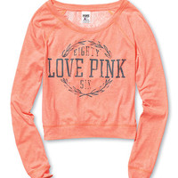 Lace-back Raglan - PINK - Victoria's Secret