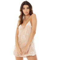 Crushed Velvet Zillah Slip Dress