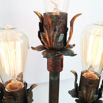 Industrial Lamp: Urban Lamp - Industrial Table Lamp, Urban Pipe Lamp, Rustic Desk Lamp, Industrial Lighting, Shabby Chic