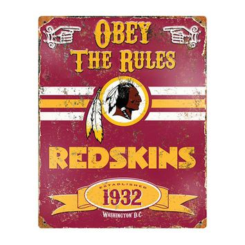 Washington Redskins NFL Vintage Metal Sign (11.5in x 14.5in)