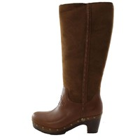 Authentic UGG Australia Jemma Tall Women's Charcolate Brown Shearling Fur Winter Boots