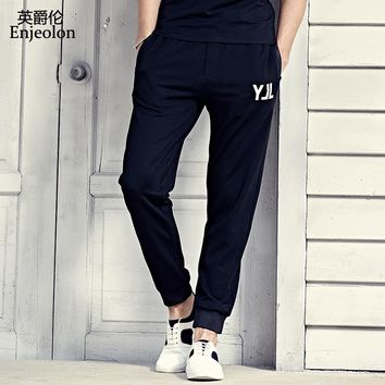 long trousers Black sweatpants men high-quality drawstring clothing Straight males fashion Causal clothes