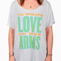 To Write Love on Her Arms Official Online Store - Letterpress Scoop Shirt
