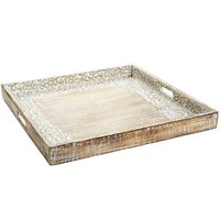 Carved Vine Large Square Tray