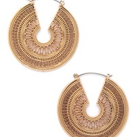 Etched Drop Earrings