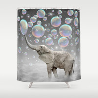 The Simple Things Are the Most Extraordinary (Elephant-Size Dreams) Shower Curtain by soaring anchor designs ⚓ | Society6