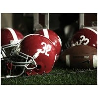 Alabama Crimson Tide 23'' x 17'' Helmets and Football Vinyl Wall Mural