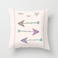 Follow Your Heart Throw Pillow by sm0w