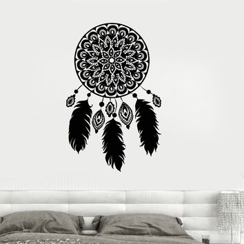 Vinyl Wall Decal Dreamcatcher Amulet Dream Catcher Bedroom Stickers (ig3555)