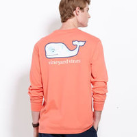 Men's T-Shirts: Long-Sleeve Map Whale Pocket T-Shirt for Men - Vineyard Vines
