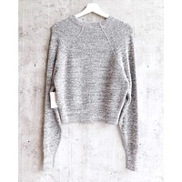 Free People - Too Good Ribbed Trim Pullover Sweater - Black