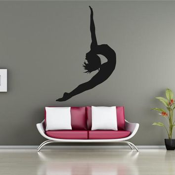 ik2316 Wall Decal Sticker gymnast girl dance pose beautiful living room bedroom gym