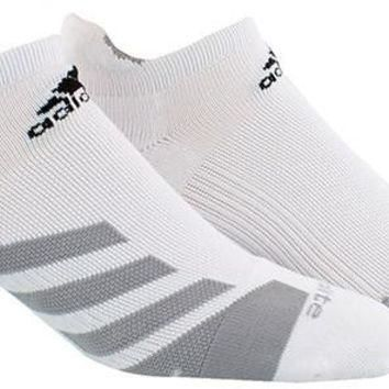 Adidas Traxion Tennis No Show Socks - White/grey/black