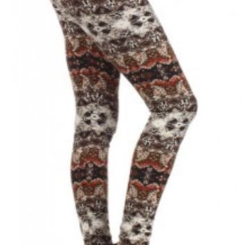 Native Fall Fleece Lined Leggings