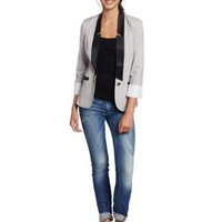 XOXO Juniors Tuxedo Roll Cuff Jacket