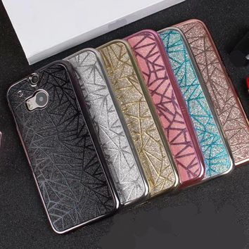 Luxury 3D Water Cube Bling Sparkle Glitter Case For HTC One M8 & M9 Soft Silicone TPU Cover phone cases For moto G4 play coque