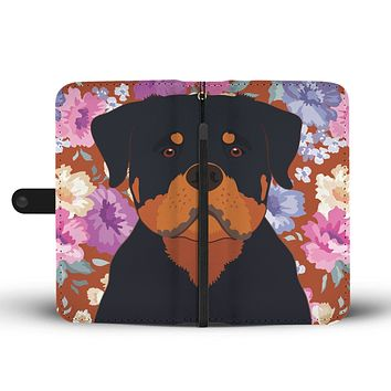 Rottweiler Dog Portrait Wallet Phone Case