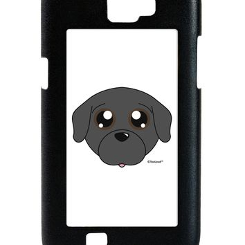 Cute Pug Dog - Black Galaxy Note 2 Case  by TooLoud