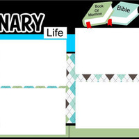 NEW!! This is the Missionary Life-Custom 2 page 12 X 12 Premade Scrapbook Layout