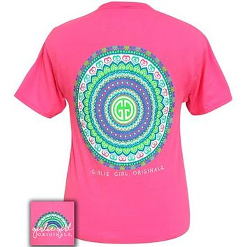 Girlie Girl Originals Preppy Pink Mandala Logo T-Shirt