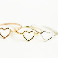 Cute heart knuckle ring,mini heart knuckle ring,heart ring,mid knuckle ring,wedding ring,bridesmaid ring,bridesmaid gift,SKD374