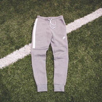 NIke Tech Fleece Pant - Carbon Heather/White