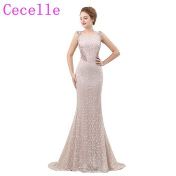 Hot New Designer Mermaid Beading Luxury Long Prom Dresses 2018 Sleeveless Teens Couture Custom Made Prom Party Gowns Real Photos