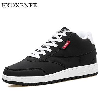 FXDXENEK 2017 New Luxury Mens Casual Shoes High Quality Unisex Flat Autumn Breathable Hip Hop Men Sneakers PU Leather Shoes