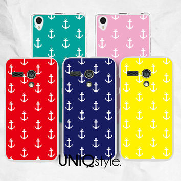 Nautical Anchor phone case for Moto G Moto X Sony Xperia Z Xperia Z1 - anchor pattern plastic back cover case for Sony Motorola - E99