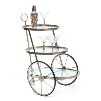 "Eclipse Home Collection Miami Bar-Tea Cart 19"" L  x 26.5"" W  x 31"" H"