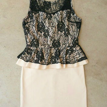 Blush & Lace Party Dress